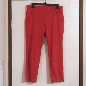 SALE Anthropologie Cartonnier Red Charlie Trousers